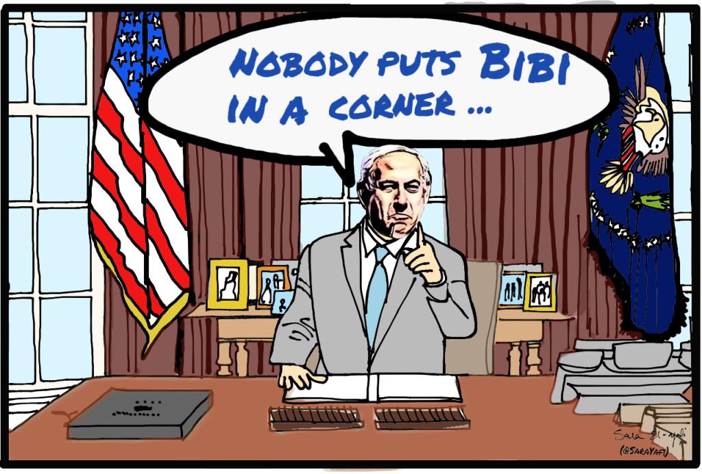 Slide 8 - Bibi at the desk signed
