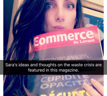 "Sara's Ideas and Thoughts on the Waste Crisis in ""Le Commerce du Levant"", April Issue"