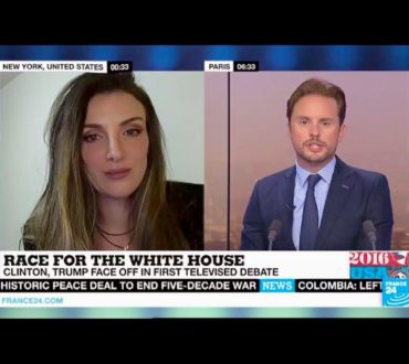 My Interview about the first US Presidential Debate Trump-Clinton – FRANCE 24
